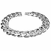 Urban Male Chunky 13mm Polished Stainless Steel Curb Link Chain Bracelet