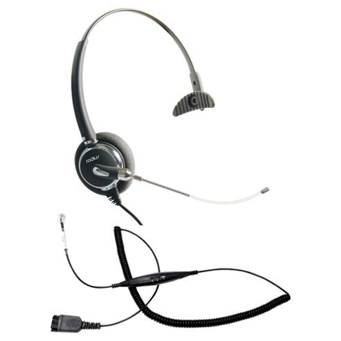 Radius 2000 Monaural CT Corded Headset & Smartcord bundle - Black