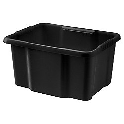 Tesco Basics 22 Litre Heavy Duty Crate, Black