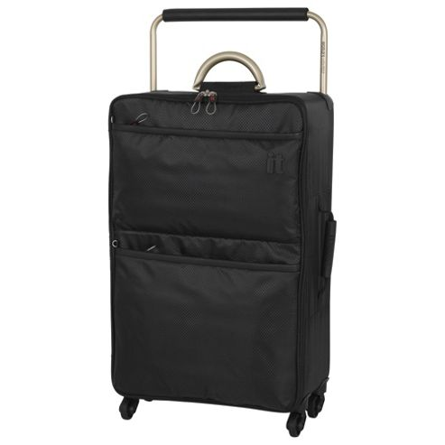 buy it luggage world 39 s lightest 4 wheel medium black. Black Bedroom Furniture Sets. Home Design Ideas