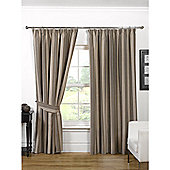 KLiving Opulence 45x72 Natural Pencil Pleat Curtains