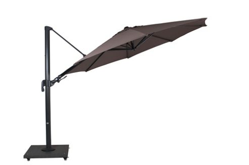 Norfolk Leisure Palermo Cantilever 330cm Parasol in Grey