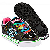 Heelys Motion Plus Black/Hot Pink/Rainbow Heely Shoe - Black