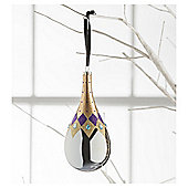 Tesco Glass Petrol Bauble Hanging Decoration