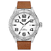 CAT Mens Leather Date Watch NH.141.35.232