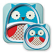Skip Hop Zoo Tabletop Plate & Bowl Set - Owl