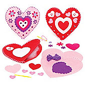Heart Cushion Sewing Craft Kits (Pack of 2)