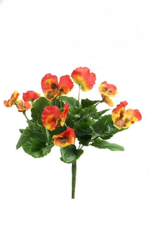 buy artificial 27cm orange pansy plug plant from our. Black Bedroom Furniture Sets. Home Design Ideas