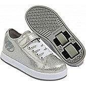Heelys Spiffy Glitter Kids Heely X2 Shoe - Silver