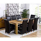 Mark Harris Furniture Madrid Chunky Solid Oak Dining Table with Barcelona Chairs