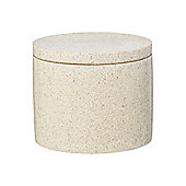Linea Resin Natural Spa Storage Jar In Brown New