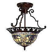 Arcade 37cm Tiffany Two Light Ceiling Light