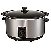 Morphy Richards Slow Cooker, 48705, 6.5L - Stainless Steel