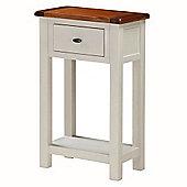 Suffolk Painted Telephone Table - Stone Grey & Dark Oak