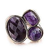 Shimla Ladies Purple Agate 3-Stone Ring - SH-208ML