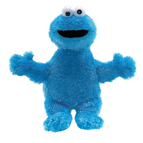 Gund Sesame Street Cookie Monster Stuffed Toy Blue