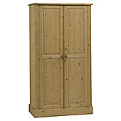Home Essence Dunedin Wide Two Door Wardrobe in Pine