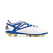 adidas Messi 15.4 FxG Junior Kids Firm Ground Football Soccer Boot - White