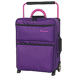IT Luggage World's Lightest 2-Wheel Small Purple Suitcase