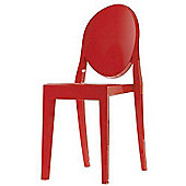 Victoria Style Red Ghost Dining Side Chair