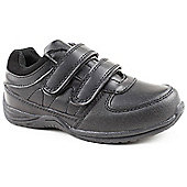 Skittles Boys Chomp Black School Shoes