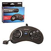 Sega Megadrive Controller Wired 6 Button RetroPad - Megadrive