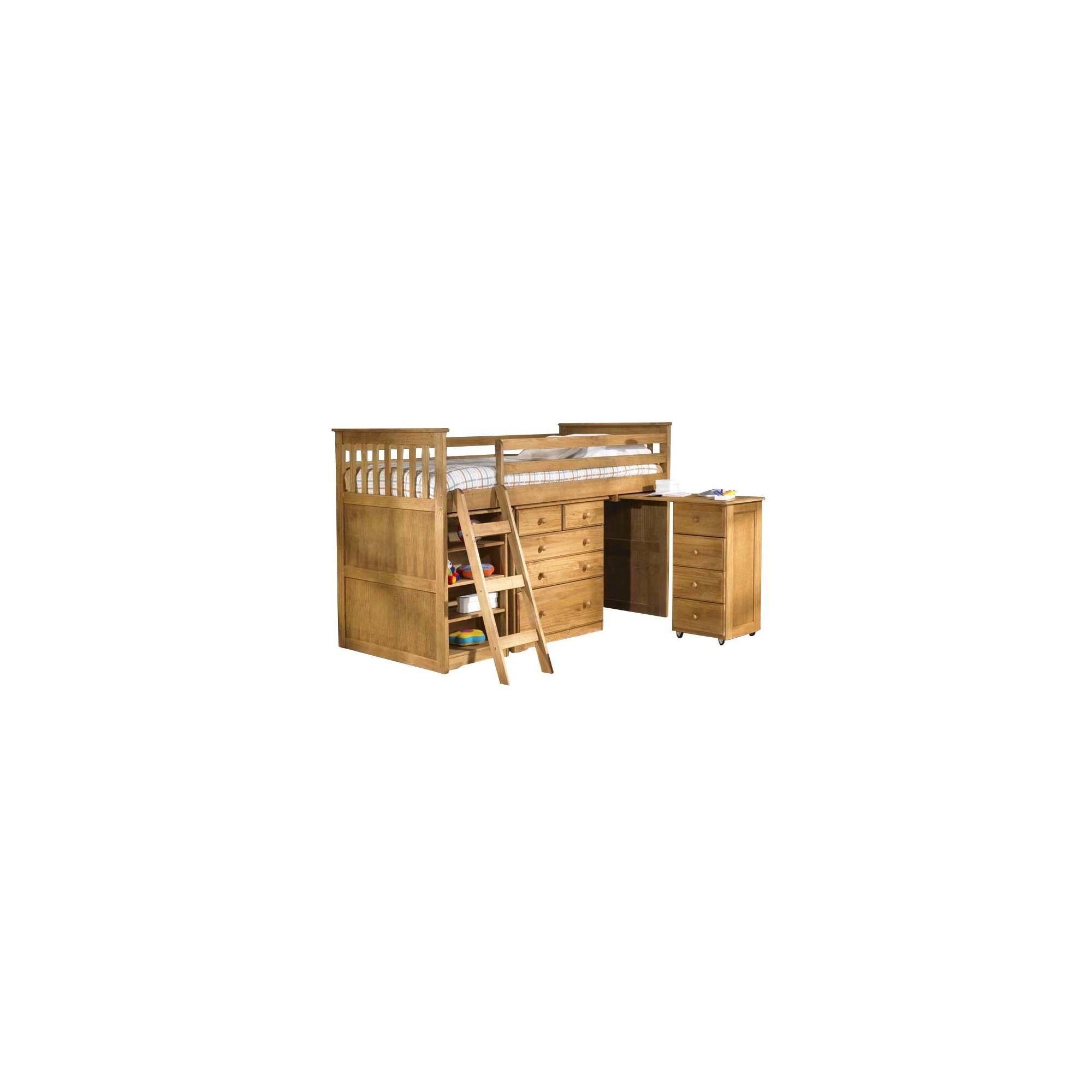 Amani Mid Sleeper Cabin Bed - Waxed Pine at Tesco Direct