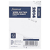 2014 Filofax Pocket Diary Inserts, Week To View
