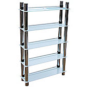 Splash - 5 Tier Bathroom Storage Shelves - White