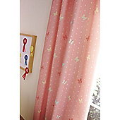 Catherine Lansfield Home Kids Cotton Rich Tab Curtains Multi 168cm wide x 183cm drop (66x72 inches)