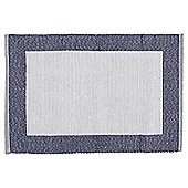 Tesco Cotton Ribbed Blue Placemat 2 pack