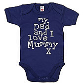 Dirty Fingers My Dad and I love Mummy Baby Bodysuit