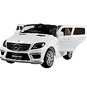 Licensed 12V Mercedes ML63 AMG Jeep White