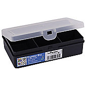 Wham Small Plastic Organiser with Dividers, Black