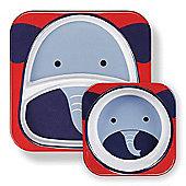 Skip Hop Zoo Tabletop Plate & Bowl Set - Elephant