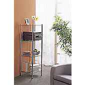 Nicol Maximo Stand Shelf in Chrome with Glass Tray
