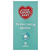 Tesco Loves Baby Sterilising Tablet 56 Pack