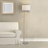 Faro Creta 1 Light Floor Lamp in Satin Nickel