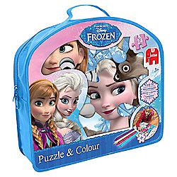 Disney Frozen Puzzle & Colour Set