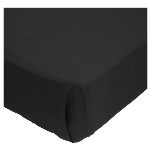 Tesco Flat Sheet Kingsize Black