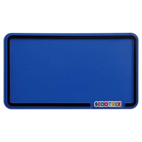 Scootrix Ride-On Number Plate, Neon Blue