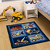 Transport, Trucks and Dumpers Rug 80 x 100 cm