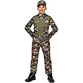 Child Soldier Boy Costume Large