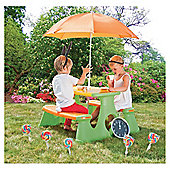 Plum Paradiso Picnic Table with Umbrella