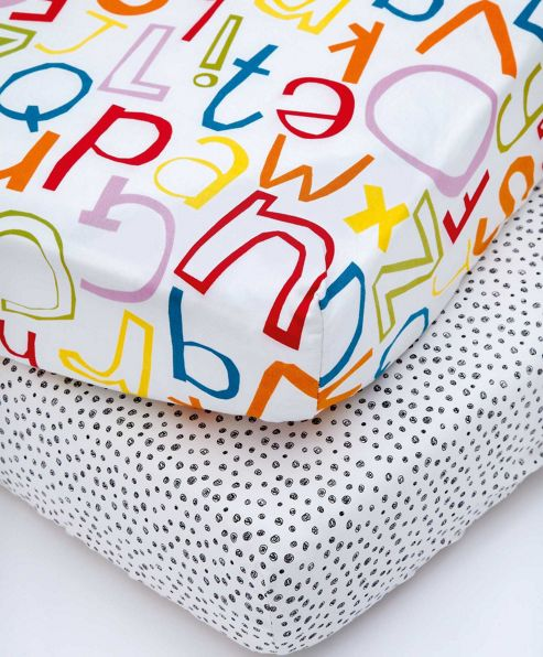 Mamas & Papas - Hoppity Hoot - Pack of Two Fitted Sheets