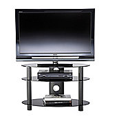 ALPHASON ACCORD, 3 SHELF OVAL TV STAND IN BLACK FOR TV'S UP TO 37""