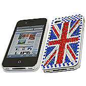 Blue Red Union Jack FunkGem Back Cover Case - Apple iPhone 4