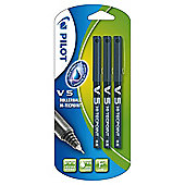 Pilot Hi-Techpoint Rollerball V5 Black, 3 Pack