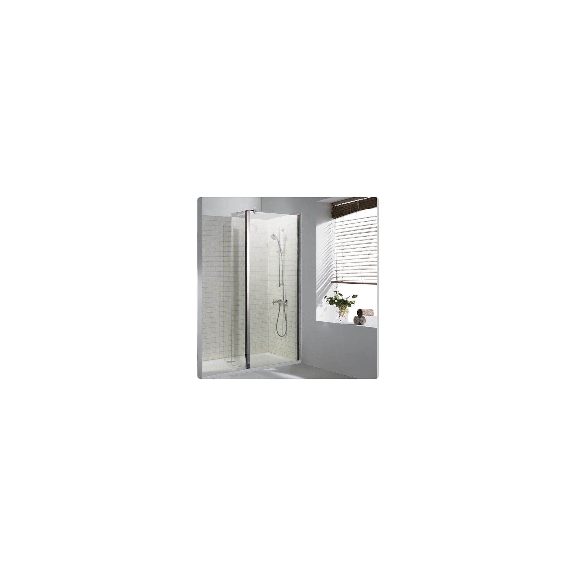 Duchy Choice Silver Walk-In Shower Enclosure 1400mm x 760mm (Complete with Tray), 6mm Glass at Tesco Direct