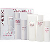 Shiseido The Skincare Moisturizing 1-2-3 Set 75ml Extra Gentle Cleansing Foam + 100ml Hydro-Nourishing Softener + 30ml Day Moisture Protection SPF15
